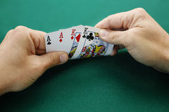 Aces and Kings Double Suited. Royalty Free Stock Photos