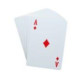Aces la tarjeta de los diamomds del póker Fotografía de archivo