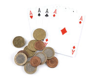 Aces and money Stock Images