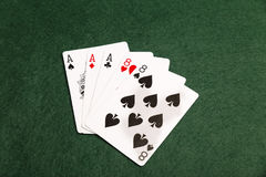 Aces Over Eights Royalty Free Stock Photography