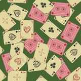 Aces of playing card seamless pattern Royalty Free Stock Photo