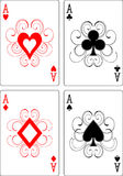 Aces playing cards Stock Image