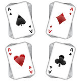 Aces playing cards Stock Photography