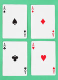 Aces playing cards detail Royalty Free Stock Photo