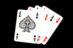 Aces playing cards suits Stock Images