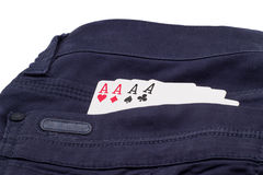 Aces in the pocket of your trousers Stock Photo