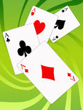 Aces poker Stock Photography