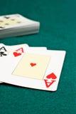 Aces poker Stock Photo
