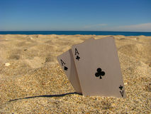 Aces in the sand Stock Images