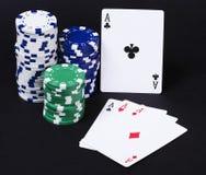 Aces Spielkarten Lizenzfreies Stockfoto