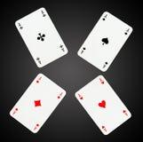 Aces tarjetas que juegan Imagen de archivo