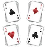 Aces tarjetas que juegan Fotografía de archivo