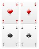 Aces on white Stock Photos