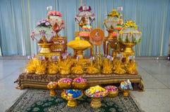 Acessórios budistas da cerimônia da classificação Foto de Stock