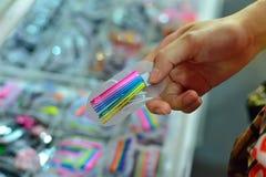 Acessórios coloridos do cabelo Foto de Stock