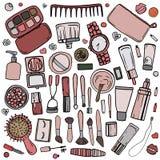 Acessórios cosméticos 2 ilustração stock