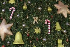 Acessórios da árvore de Natal Foto de Stock