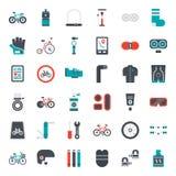 Acessórios da bicicleta ilustração do vetor