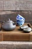 Acessórios da cerimónia de chá do chinês tradicional Imagens de Stock