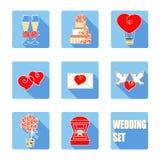 Acessórios da cerimônia de casamento ajustados Imagem de Stock Royalty Free
