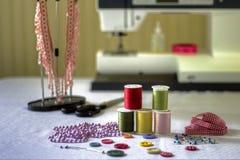 Acessórios da costura Imagem de Stock Royalty Free