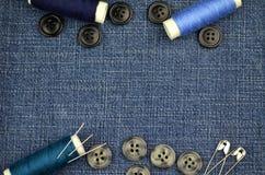 Acessórios da costura Foto de Stock