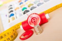 Acessórios da costura Fotografia de Stock