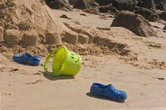 Acessórios da praia Imagem de Stock Royalty Free