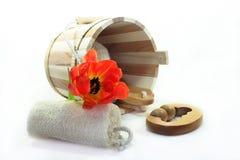 Acessórios da sauna Fotos de Stock