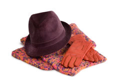 Acessórios das mulheres - inverno Foto de Stock Royalty Free