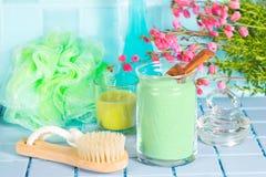 Acessórios de banho saudáveis frescos Fotos de Stock