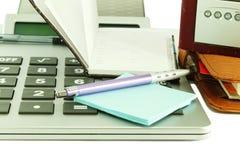 Acessórios de desktop do escritório Imagem de Stock