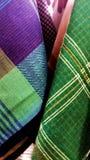 Acessórios de pano do detalhe de lenço do lenço de lenço imagem de stock royalty free