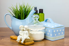 Acessórios do banho Artigos da higiene pessoal Imagens de Stock