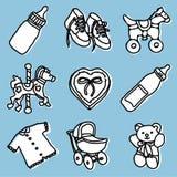 Acessórios do bebê ajustados ilustração do vetor
