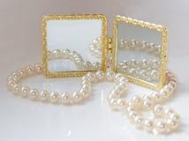 Acessórios do branco de Beautifull Foto de Stock Royalty Free