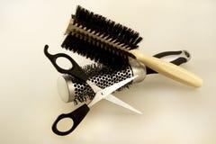 Acessórios do cabeleireiro Imagem de Stock