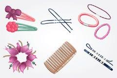 Acessórios do cabelo Imagem de Stock Royalty Free