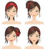 Acessórios do cabelo ilustração royalty free