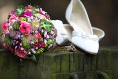 Acessórios do casamento Fotografia de Stock