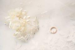 Acessórios do casamento Foto de Stock