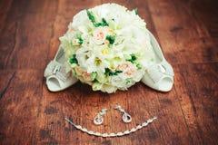 Acessórios do casamento das mulheres Foto de Stock Royalty Free