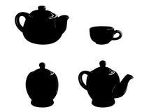 Acessórios do chá Imagens de Stock