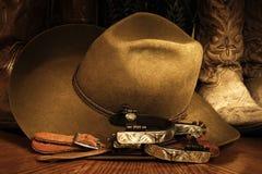 Acessórios do cowboy Fotos de Stock Royalty Free