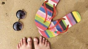 Acessórios do dia da praia Fotos de Stock