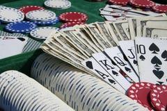 Acessórios do póquer imagens de stock