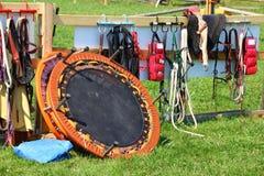 Acessórios do trampolim e do cavaleiro Imagem de Stock Royalty Free