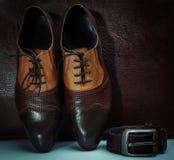 Acessórios dos homens, ainda vida Olhar do negócio Fotos de Stock Royalty Free