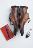 Acessórios dos homens, ainda vida Olhar do negócio Imagens de Stock Royalty Free