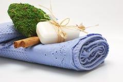 Acessórios dos TERMAS para o wellness ou o relaxamento Imagens de Stock Royalty Free